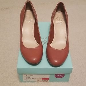 Jessica Simpson Brown Wedges - Size 8.5